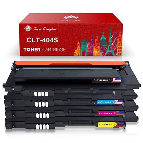 Toner Kingdom Cartucho de tóner Compatible Samsung CLT-P404C / CLT-404S Toner Cartridge para Uso en Samsung Xpress SL-C480 SL-C480FW SL-C480W SL-C480FN SL-C430 SL-C430W SL-C482 SL-C482W SL-C482FW