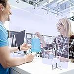 Mampara de mostrador de policarbonato ultra resistente modelo Diamond con ventana central | Mampara ... #5