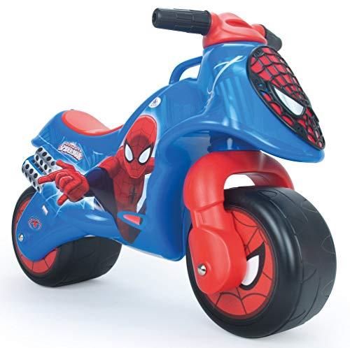 INJUSA - Spiderman Neox Cavalcabile con Decorazione Permanente e Impermeabile e Ruote Larghe Raccomandato per Bambini +18 Mesi