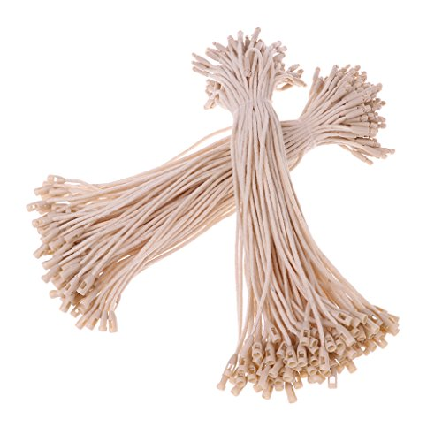 Almencla Pack of 200 PE Tag Hook Tie Pin Fasteners on Clothes 20cm Beige