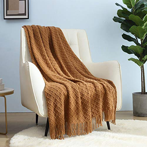 CREVENT Home Farmhouse Decor Rustic Couch Sofa Chair Bed Throw Blanket, Soft Warm Light Weight for Travelling in Spring Summer (50