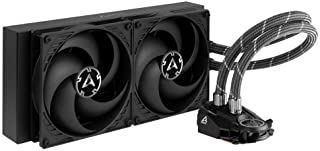 ARCTIC Liquid Freezer II 280 - Refrigerador de agua AIO de CPU Multi-Compatible, con Intel y AMD, bomba controlada por PWM, Velocidad del Ventilador: 200-1700 RPM (controlada vía PWM) - Negro