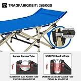 DRMOIS Camping Betten Feldbetten Klappbar, max Statische Belastbarkeit 260 kg Campingliege für Outdoor Camping Reisen Home Lounging Verwenden - Königsblau - 5