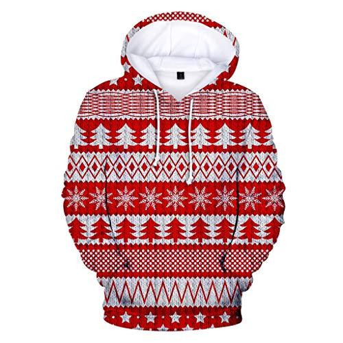 Best Deals! Christmas Sweater for Women,Tronet Couple's Autumn Fashion 3D Christmas Long Sleeve Hood...