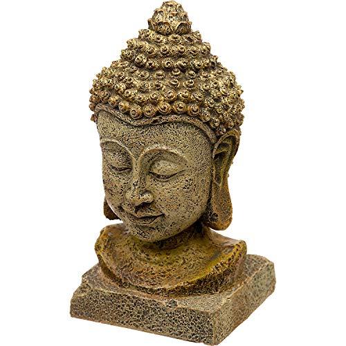 Blue Ribbon Thai Buddha Head Aquarium Ornament, Large, Brown