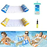 4-in-1 Inflatable Water Floating Hammock (Saddle, Lounge Chair, Hammock, Drifter) Swimming Pool Floating Party Summer Outdoor Beach for Adults