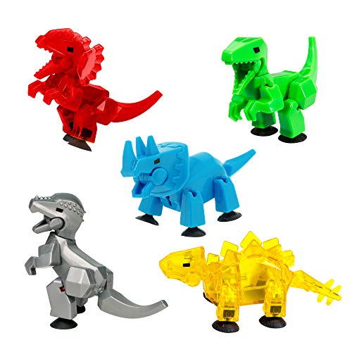 Zing Stikbot Dino Combo 5 Pack, Set of 5 Stikbot Collectable Dino...