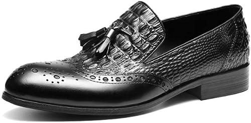 AEYMF zapatos De Cuero para Hombre con Flecos De Hombre De Negocios.