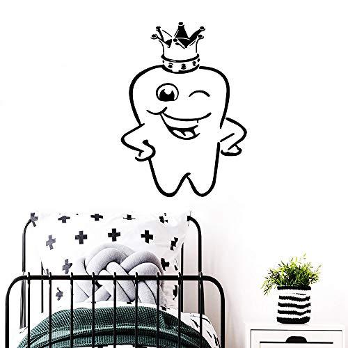 XYVRS Exquisite Zahn Vinyl wasserdicht Home Decoration ZubehörBadezimmerTapete Poster Commercial Dental Creative Aufkleber43cm x 59cm