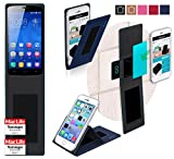 reboon Hülle für Huawei Honor 3C Play Edition Tasche Cover Case Bumper | Blau | Testsieger