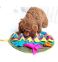 Big Bargain Store ペットスナック給餌マット 猫が自然に餌をやるように励ます 犬の携帯用旅行使用 圧力を解放するための屋内および屋外の犬スナックディスペンサー brown Square