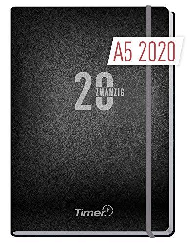 Chäff-Timer Premium A5 Kalender 2020 [Silber] Terminplaner 12 Monate | Terminkalender, Wochenplaner, Wochenkalender, Organizer mit Gummiband und Einstecktasche