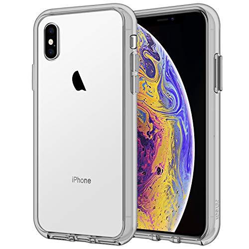 JETech Funda Compatible iPhone XS y iPhone X, Carcasa Anti-Choques y Anti-Arañazos (Gris)