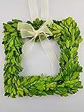 "Tradingsmith Preserved Boxwood Square Wreath 6"""