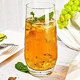 [6-Pack, 550ml/18.6oz] Design•Master-Hochwertige Highball-Gläser, Schweres Basis Hochbarglas, Trinkgläser für Wasser, Saft, Bier und Cocktail. - 5