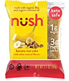Keto Snack Cakes by Nush - Banana Nut Flavor (6 Cakes) - Made from Flax, Gluten-Free, Grain Free, Paleo, Diabetic Friendly, Low Carb Snack, Healthy, Low Sugar, Low Net Carb, Naturally Sweetened, Low Glycemic