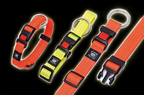Karlie Art Sportiv Plus Halsband, 20 mm 40-55 cm, Reflek.gelb, Verstell.