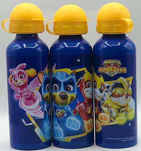 Gym Una Botella de Agua de Aluminio, cantimplora a Prueba de Fugas sin BPA 520ML para Levar a la Escuela y Deportes el Termo para niños y niñas Patrulla Canina