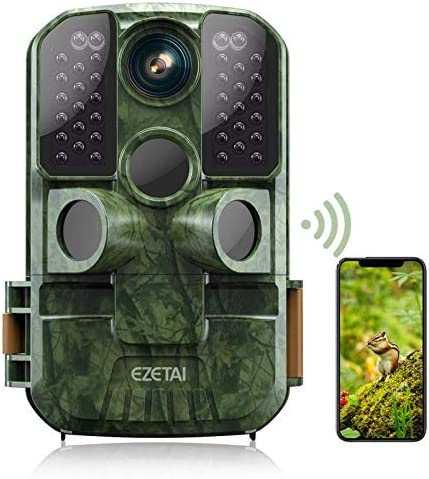 WiFi Trail Camera 24MP Game Cameras 1296P HD Wildlife Hunting Camera with Night Vision Motion product image