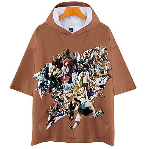 Fairy Tail 3D Impresión Anime Hoodie T-Shirt Cosplay Manga Corta Camiseta Verano Pullover Tops Sudadera Con Capucha 3XL