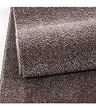 Teppich Kurzflor Modern Wohnzimmer Einfarbig Meliert Uni günstig Versch. Farben - Mocca, 160x230 cm - 3