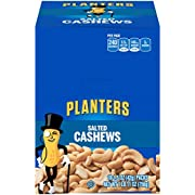 Planters Salted Cashews (1.5 oz Packet, Pack of 18)