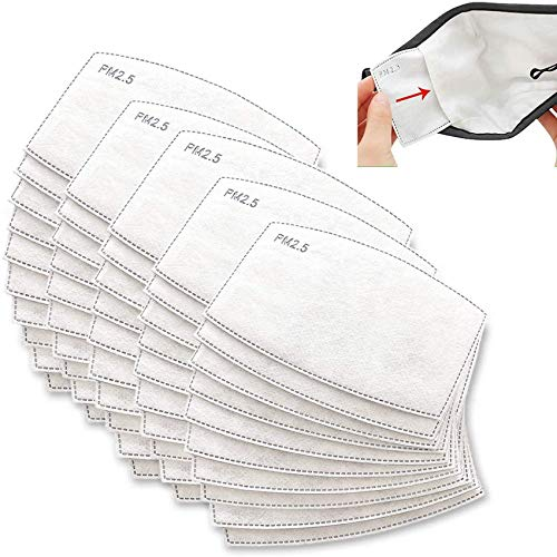 (50PCS) PM 2.5 Activated Carbon Filters Hepa Filter,Filters Insert Replacements,5 Layers Replaceable Anti Haze Filter Paper