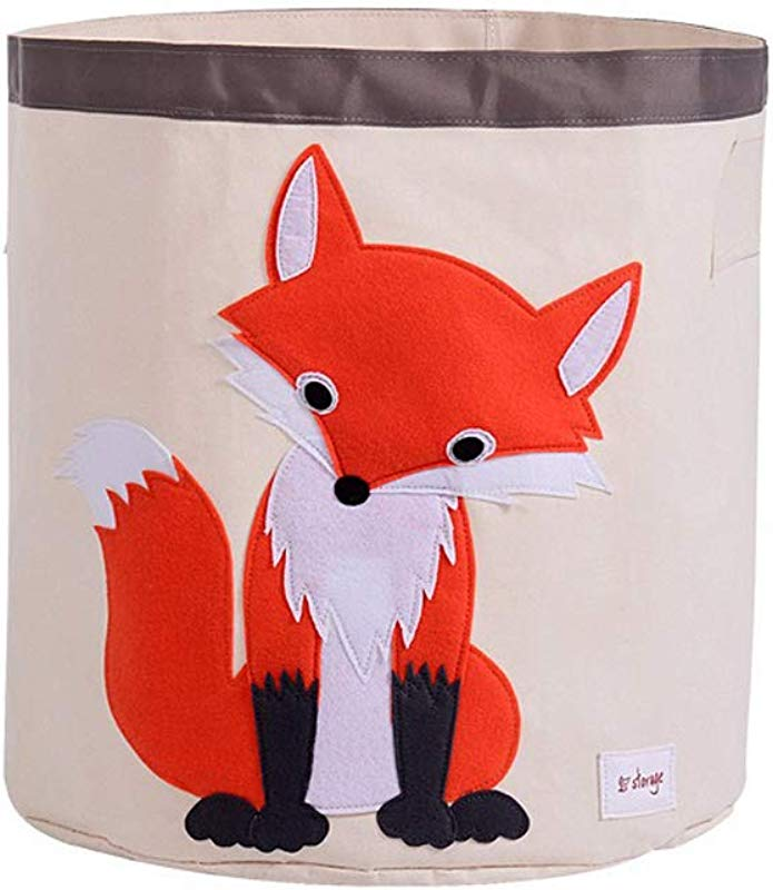Grumpy Cloud Cartoon Laundry Hamper For Kids Toy Storage Bin Fox