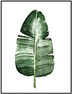 CYNDIE Modern Green Plant Leaf Printing Canvas Art Poster Print Wall Picture Home Decor Gift (Without Frame) L-073 40x50cm