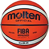 Molten BGHX - Balón de Baloncesto de entrenamiento Senior Femenino, Naranja y Marrón claro, Talla 6
