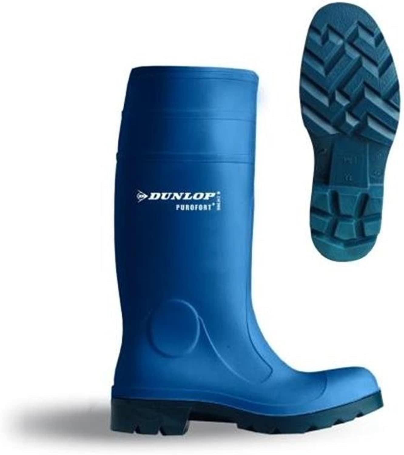 Dunlop Purofort Wellington Boots Metzger Boots bluee with Steel Toe Cap Work Boots Size  13