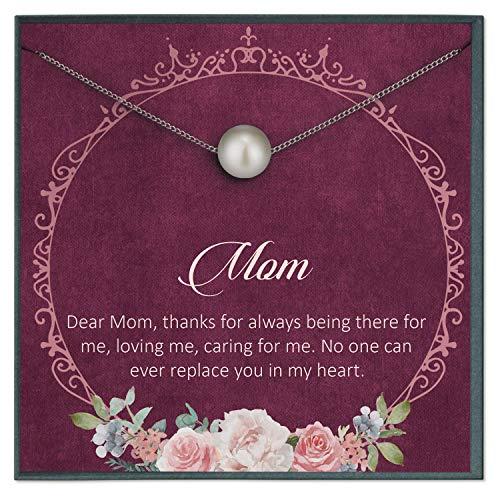 Grace of Pearl Tarjeta de felicitación de cumpleaños con Cita de «Dear Mom» para Regalo de cumpleaños de Hija, Regalo Sentimental para mamá, Tarjeta con Cita de Amor incondicional