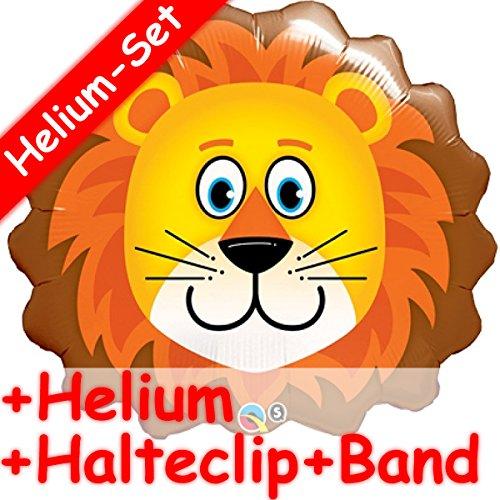Shape folieballon set * LÖWE * + Helium vullen + Houten clip + band * voor kinderverjaardag // folie ballon helium decoratie ballongas motto leeuw giraffe zebra Urwald Regenwald