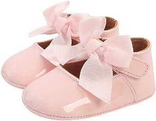 033 Chaussure bébé Fille Antidérapants Bowknot Princesse Ballerine Bébé Chaussures Prewalker antidérapantes pour bébé