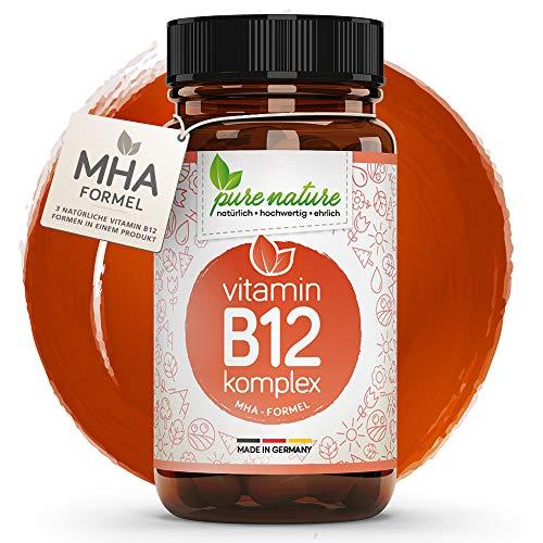 Vitamin B12 500µg KOMPLEX I 120 Tabletten | 100% NATUR & REIN I 4in1 MHA-Formel I Folsäure & bioaktive Formen | Vegan | Hochdosiert | Laborgeprüft