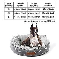 犬用ベッドベンチ犬用ベッドマット犬子犬用ベッド猫ペット犬小屋ラウンジャー犬用ベッドソファハウス猫用ペット製品、grey-py0101、S as picture