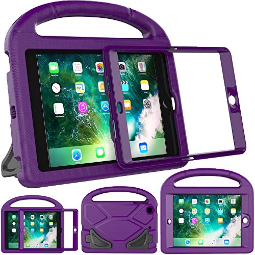 Surom Kids Case for iPad Mini 1 2 3 - Light Weight Shock Proof Handle Stand Cover Case with Built-in Screen Protector for iPad Mini 1 / iPad Mini 2 / iPad Mini 3 - Purple