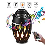 EYUVAA LABEL Flame Outdoor Portable Bluetooth Speakers, HD Stereo Audio and Enhanced Bass
