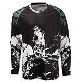 Cycling Jersey Men Long Sleeve MTB T Shirt Mountain Bike Motorcycle Bicycle Clothes Black White Size XL