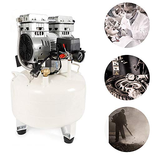 Compresor de aire comprimido silencioso, compresor de taller sin aceite, compresor silencioso, compresor de pistón silencioso, compresor de aire con correa de aire, 35 l 35 db