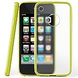 MoEx Coque Mate Transparente Compatible iPhone 3GS / iPhone 3G | Bords surélevés Contrastants, Vert
