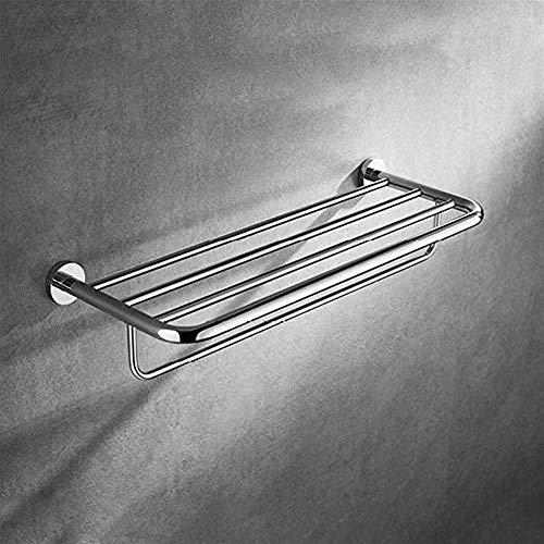 CESULIS Toallero de pared para baño, montado en la pared, de cobre, doble barra, barra de toalla de baño de doble capa de doble capa de baño, toalla, organizadores/estantes