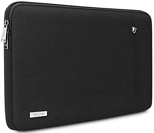 TECOOL 12.3-13 inch Laptop Sleeve Case, Protective Cover for 2018 2019 2020 MacBook Air/Pro 13 Inch, HP Envy 13, Dell XPS 13, 12.3 Inch Surface Pro 7/6/5/4, 12.9 iPad Pro, Black
