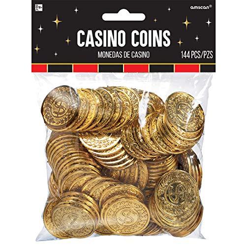 Amscan 144-Casino-Münzen (Gold)