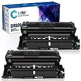 LxTek Compatible Drum Unit Replacement for Brother DR820 DR-820 HL-L6200DW HL-L6200DWT Printer Tray (2 Black, Super-High Yield 60,000 Pages)