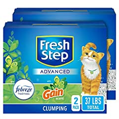Two 18.5 pounds packs, total 37 pounds Gain original scent: Subtly scented with the amazing fragrance of gain, Fresh Step Cat Litter leaves your home smelling fresh with the gain scent you love Most advanced odor protection formula yet: Fresh Step Ad...