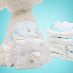 EWRTM Dog Disposable Diaper Infant Products 10Pcs Cartoon Disposable Dog Diapers Antibacterial Absorbent Pet Sanitary Pants - XL