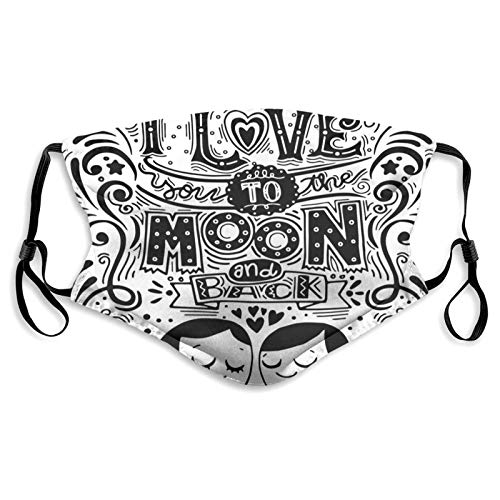 Cloth Mouth & Nose Shield,Love Bugs Hugging Eyes Closed Spiritual Relationship Pattern Valentines Art,Fashion 3D Face_mask_Protect Printed Gesichts-Mund-Schutz M