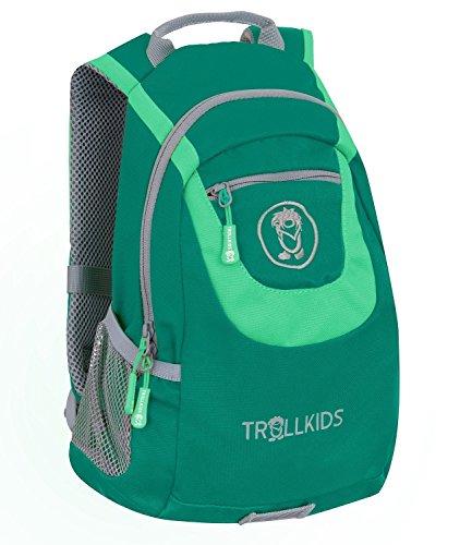 Trollkids Kinder Rucksack S, Dunkelgrün/Hellgrün, Größe 10L