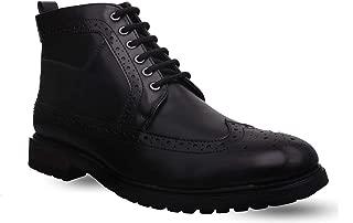 San Frissco Black Leather Boots (Size:- 8 UK)
